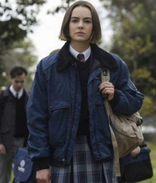 Atypical S04 Brigette Lundy-Paine Blue Parachute Jacket