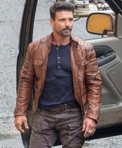 Boss level Roy Pulver Brown Real Leather Jacket