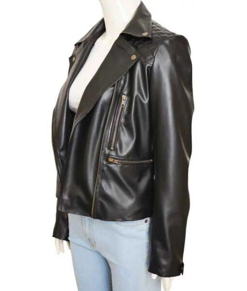 Chloe Decker Lucifer Biker Black Leather Jacket