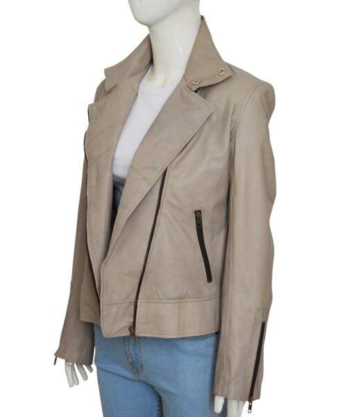 Chloe Decker Lucifer Grey Leather Jacket