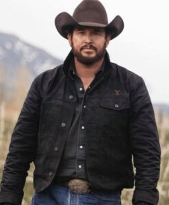 Cole Kenneth Hauser Yellowstone Rip Wheeler Black Jacket