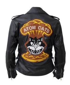 Fallout 4 Atom Cats Logo Printed Biker Jacket
