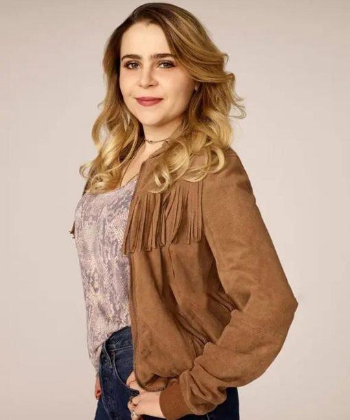 Good Girls Annie Marks Brown Fringe Cotton Jacket Side
