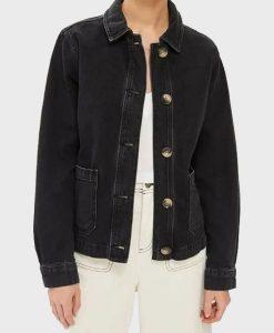 Good Girls Annie Marks Denim Black Jacket Front