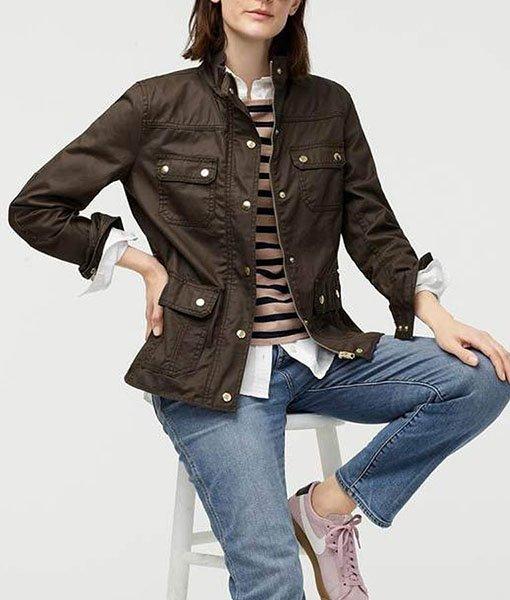 Good Girls Christina Hendricks Cotton Brown Jacket 2