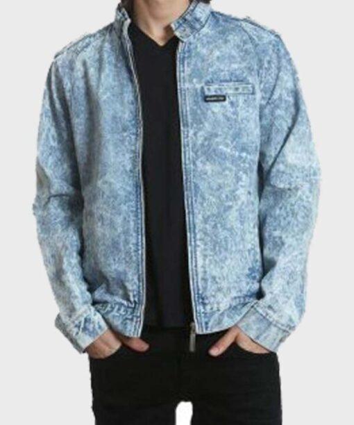 Good Girls Leslie Peterson Blue Denim Jacket Front