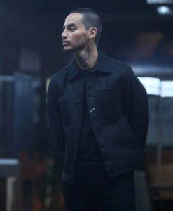 Good Girls Manny Montana Cotton Fabric Black Jacket