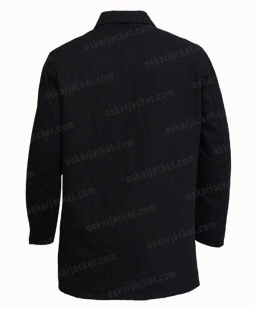 J.K. Simmons Counterpart Black Cotton Jacket Back