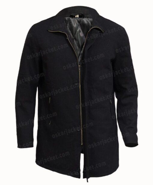 J.K. Simmons Counterpart Black Cotton Jacket Front