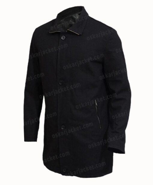 J.K. Simmons Counterpart Black Cotton Jacket Left