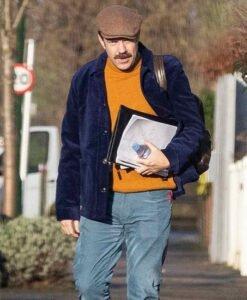 Jason Sudeikis Ted Lasso Purple Velvet Jacket
