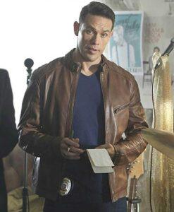 Kevin Alejandro Lucifer Brown Leather Jacket