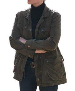 Lauren German Lucifer Chloe Decker Green Military Jacket
