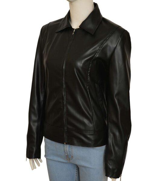 Lauren German Lucifer Chloe Decker Shirt Style Black Leather Jacket