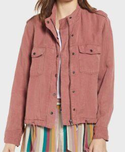 Megan Garner Lucifer Pink Jacket