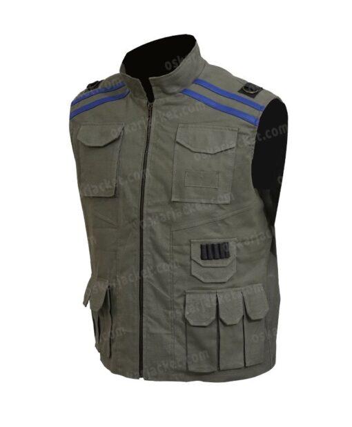 Mortal Kombat 11 Johnny Cage Cotton Green Vest LEft