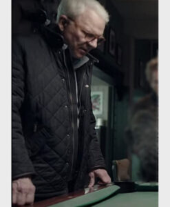 Only Murders in the Building Charles-Haden Black Quilted Jacket