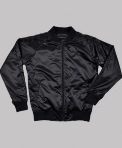 Rising Rainbow Lucifer Black Bomber Jacket