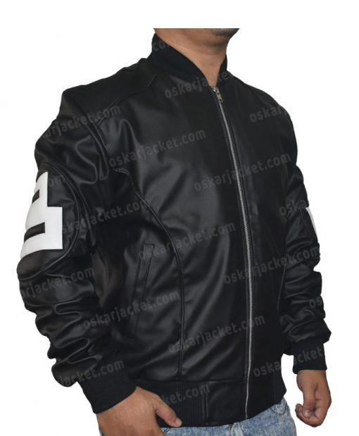 Seinfeld 8 Ball Leather Black Bomber Jacket Right