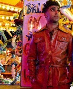 Sex Education Anwar Bakshi Brown Leather Jacket