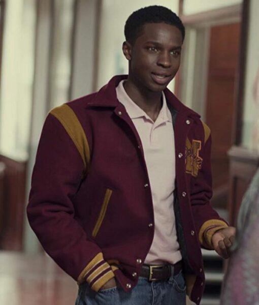 Sex Education Jackson Marchetti Maroon Varsity Jacket