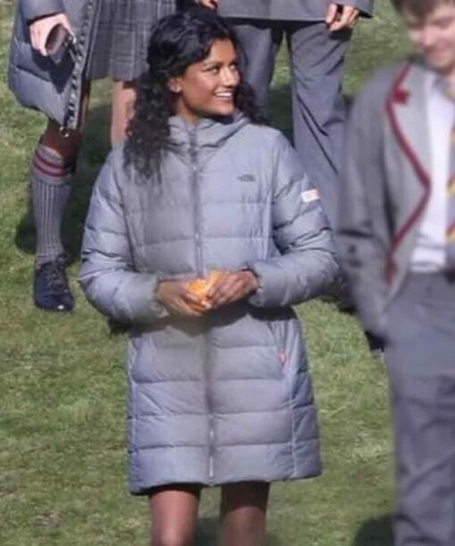 Sex Education Olivia Parachute Grey Hooded Coat