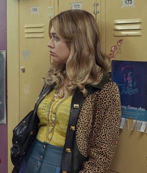 Sex Education S02 Aimee Gibbs Leopard Printed jacket