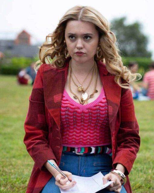 Sex Education S02 Aimee Gibbs Red Cotton Blazer