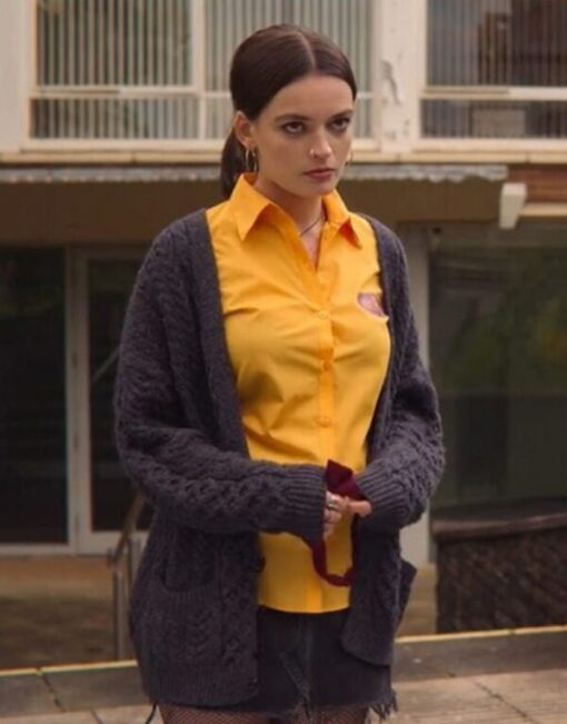 Sex Education S02 Maeve Wiley Grey Woolen Sweater