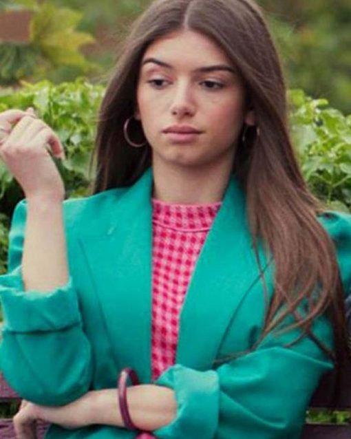 Sex Education S02 Ruby Green Cotton Blazer