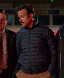Ted Lasso Jason Sudeikis Black Parachute Puffer Jacket
