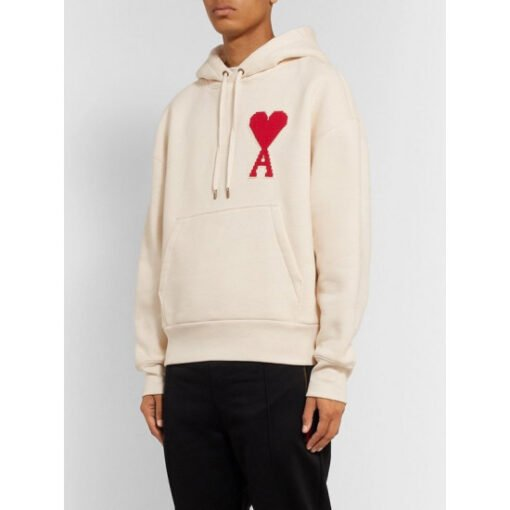 Ted Lasso S01 Keeley Jones White Hoodie WithRed Heart Front