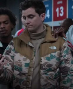Ted Lasso S02 Stephen Manas Camo Puffer Jacket