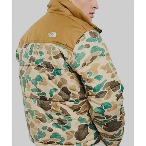 Ted Lasso S02 Stephen Manas Camo Puffer Jacket Back