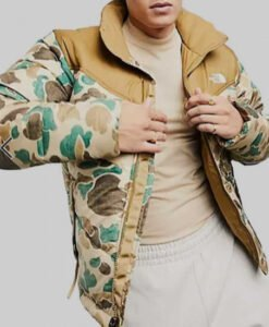 Ted Lasso S02 Stephen Manas Camo Puffer Jacket Front