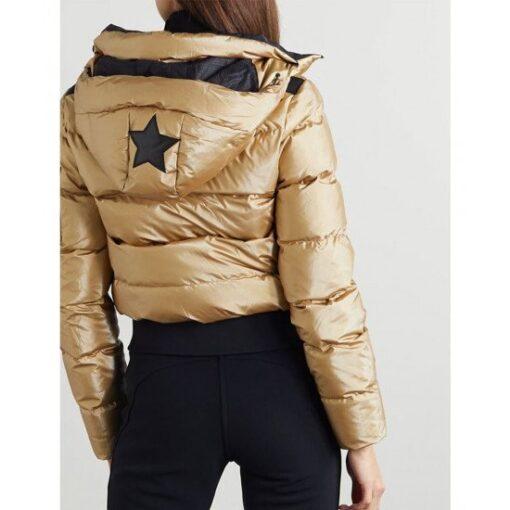 Ted Lasso Season 02 Keeley Jones Gold Puffer Jacket Back