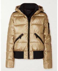 Ted Lasso Season 02 Keeley Jones Gold Puffer Jacket FRont