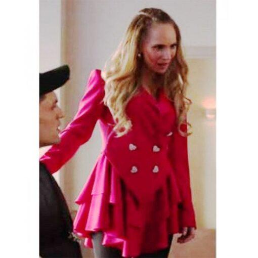 Ted Lasso Season 2 Keeley Jones Pink Heart Button Blazer