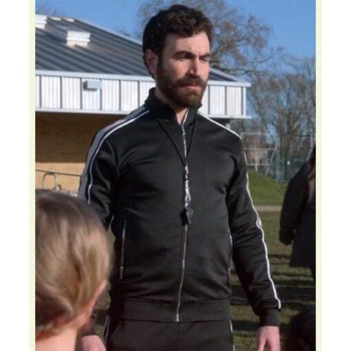 Ted Lasso Season 2 Roy Kent Black Bomber Jacket