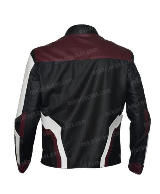 The Avengers Endgame Quantum Realm Suit Leather Jacket Back