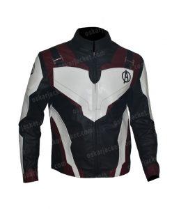 The Avengers Endgame Quantum Realm Suit Leather Jacket Front