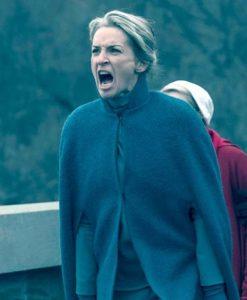 The Handmaids Tale Serena Joy Green Wool Coat 2