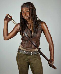 The Walking Dead Michonne Hawthorne Brown Leather Vest