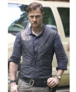 The Walking Dead The Governor Brown Satin Quilted Vest