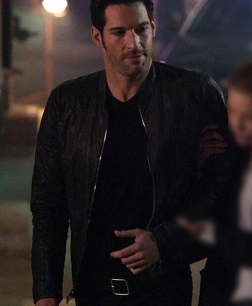 Tom Ellis Morningstar Lucifer Black Leather Jacket