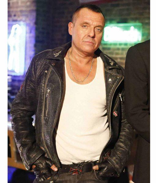 Tom Sizemore Lucifer Hank Cutter Biker Black Leather Jacket