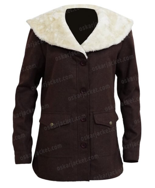 Yellowstone Beth Dutton Brown Coat Front