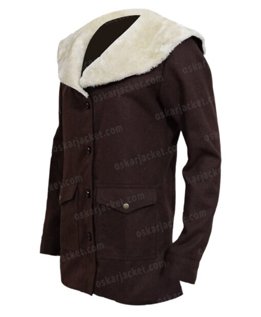 Yellowstone Beth Dutton Brown Coat LEft