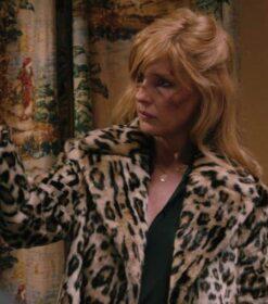 Yellowstone S02 Beth Dutton Leopard Print Fur Coat