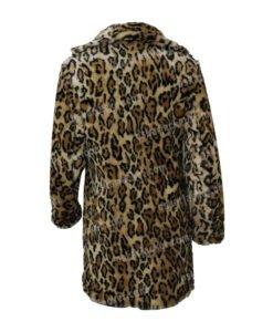 Yellowstone S02 Beth Dutton Leopard Print Fur Coat Back